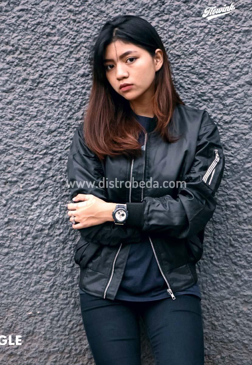 Jaket Bomber Wanita Murah Hitam BLACK EAGLE 455dd5d96d