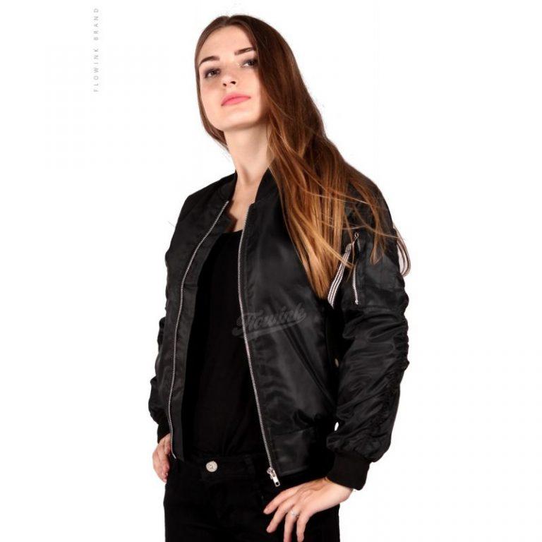 jaket bomber wanita black eagle