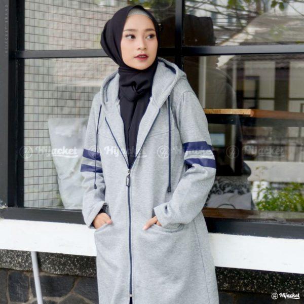 Jaket Muslimah Hijacket Beautix Skygrey
