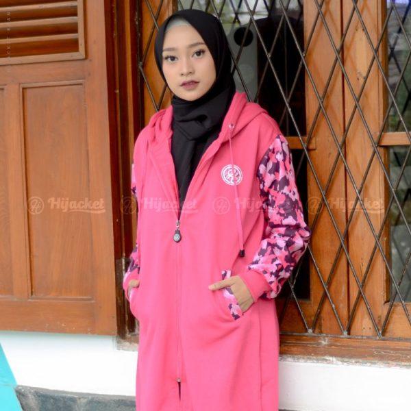 Jaket Muslimah Hijacket Camouflasion Rosepink