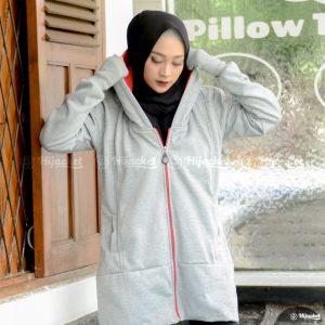 Jaket Muslimah Hijacket Grey