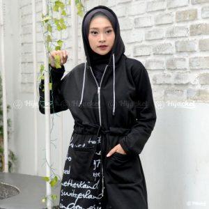 Jaket Muslimah Hijacket Urbanashion Raven Black