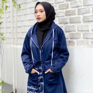 Jaket Muslimah Hijacket Urbanashion Royal Blue