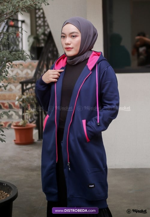Hijacket Basic Navy Pink Original Distrobeda