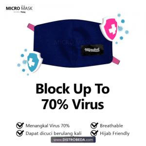 Masker Hijab Kain Non Medis Hijacket Micro Mask Jilbab