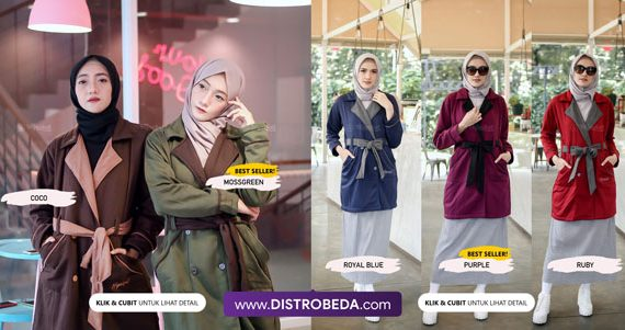 Model Jaket Korea Wanita Muslimah yang Trendy