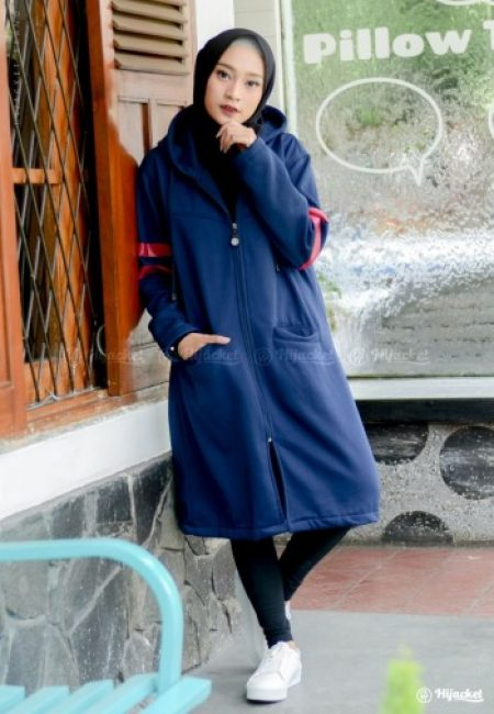 Jaket Muslimah Hijacket Beautix Royal Blue