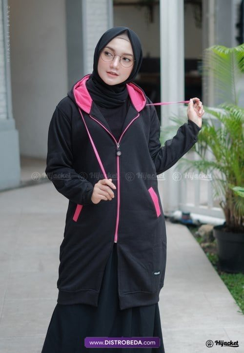 Hijacket Basic Black Pink Original