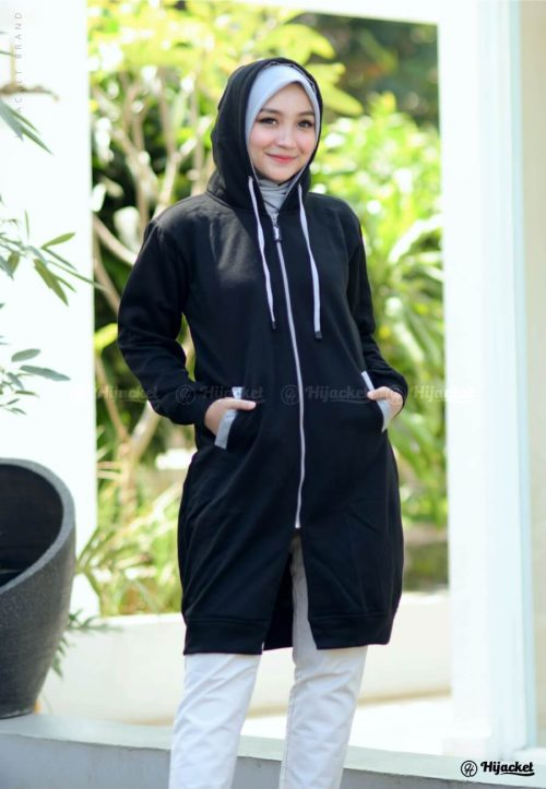 hijacket-basic-black-grey-jaket-hijaber-muslimah-distrobeda
