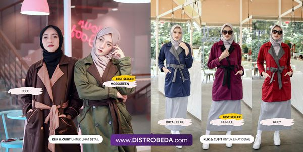 jaket korea wanita muslimah